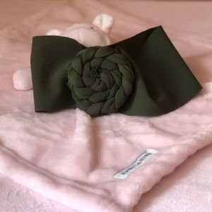 Other - Olive Green Braided Baby Girl Bow Headband
